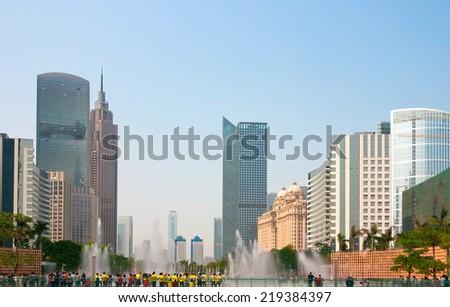 Zhujiang New Town, Guangzhou, China. - stock photo