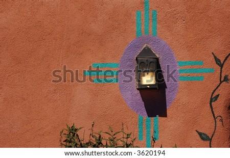Zia Symbol, Taos, New Mexico - stock photo