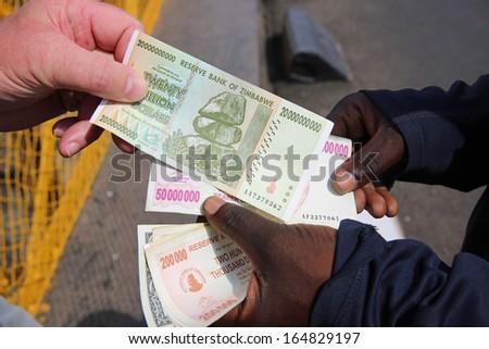 Zimbabwe Currency - stock photo