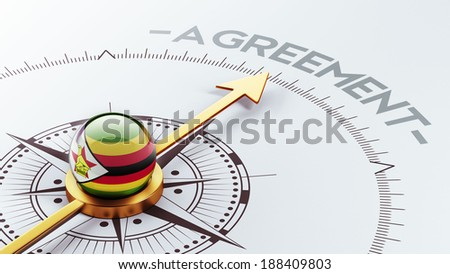 Zimbabwe High Resolution Agreement Concept - stock photo