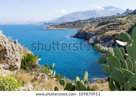 Zingaro Nature Reserve, Sicily, Italy - stock photo