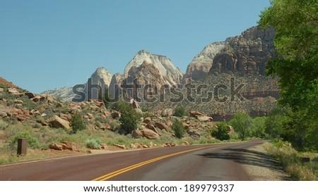 Zion National Park in Utah - stock photo