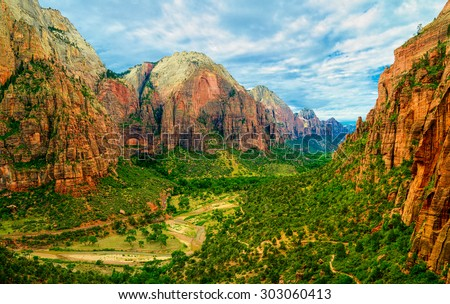 Zion National Park, Utah.   - stock photo