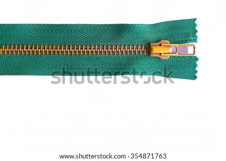 Zip isolated on white background - stock photo