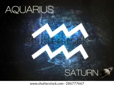 Zodiac sign - Aquarius - stock photo