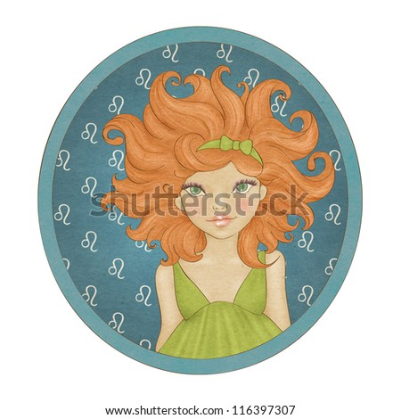 Zodiac signs collection. Leo - stock photo