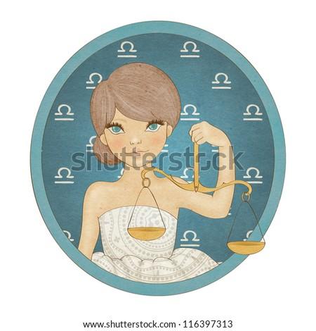 Zodiac signs collection. Libra - stock photo