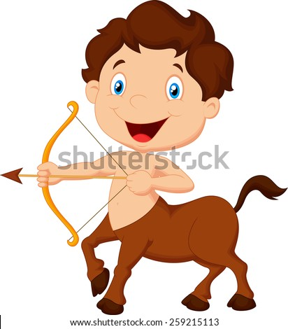 Zodiac symbol sagittarius - stock photo
