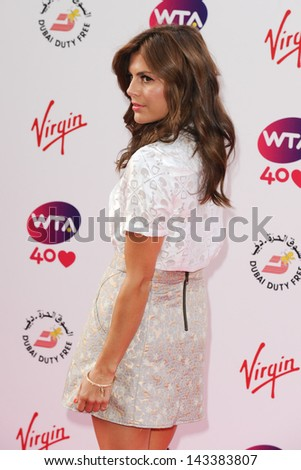 Zoe Hardman arriving for the WTA Pre-Wimbledon Party 2013 at the Kensington Roof Gardens, London. 20/06/2013 - stock photo