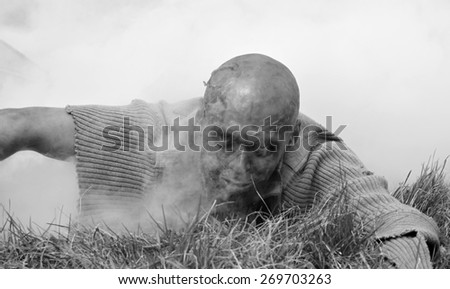 Zombie attack - stock photo