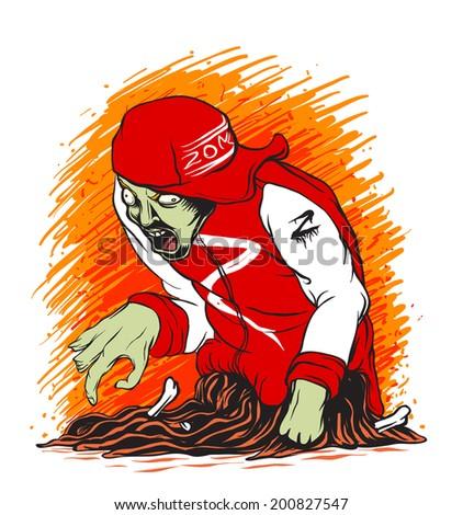 Zombie Guts - stock photo