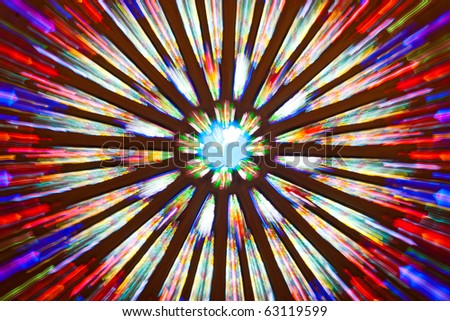 Zoom Effect  Interior a Catholic Church, Assumption University, Thailand - stock photo