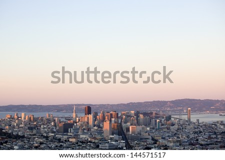 Zoom out twin - stock photo