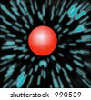 Zooming at warp speed / hyperspace towards a red planet - could be mars.  Hyperdrive Zoom Blur - stock photo