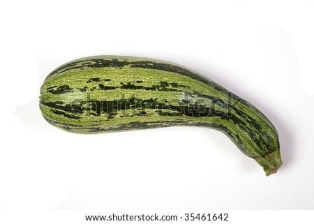 Zucchini on white - stock photo