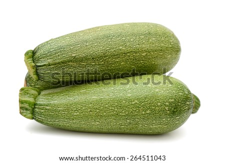 zucchini vegetables isolated on white  - stock photo