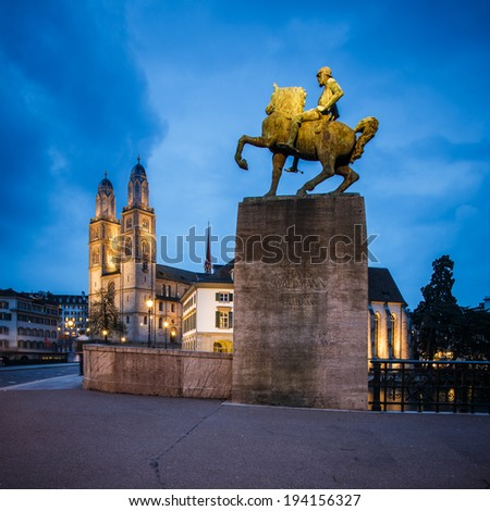Zurich cityscape - stock photo