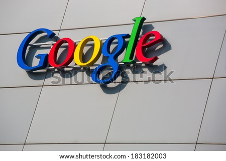 ZURICH, SWITZERLAND - MARCH  14, 2014: Google Corporation Building sign. - stock photo