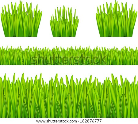 Abstract Background with Grass - stock vector