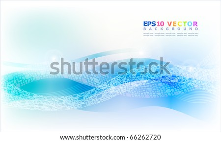 Abstract Blue waves background.Eps10. - stock vector