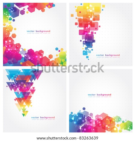 4 Abstract Colorful Background. Vector. Eps 10 - stock vector