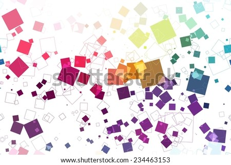 abstract pattern. seamless pattern of squares on a white background - stock vector