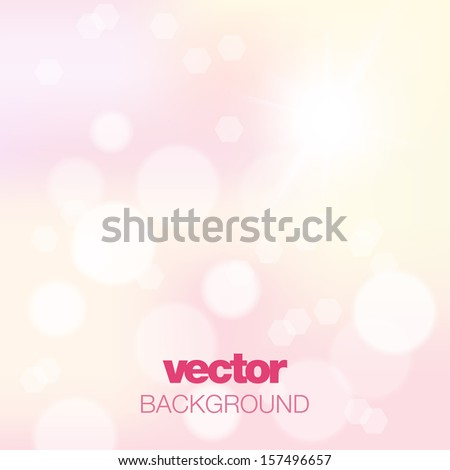 Abstract pink background with vector sun.  - stock vector