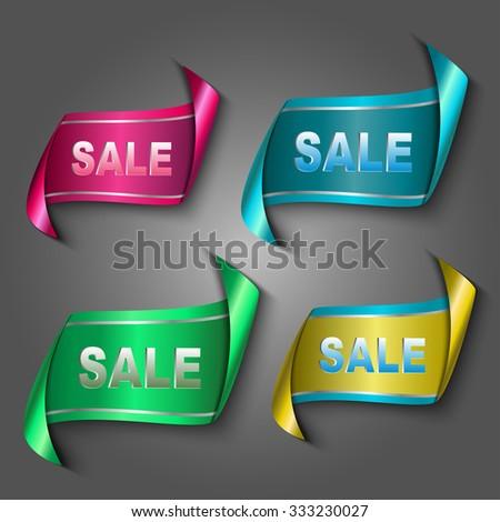 """abstract ribbon with """"Sale"""" text - eps10 vector  - stock vector"""