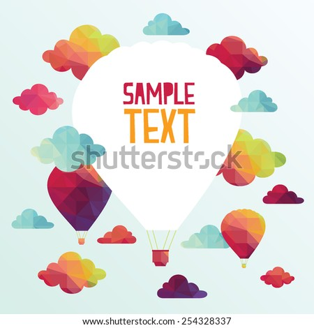 Air balloon. colorful abstract vector background - stock vector