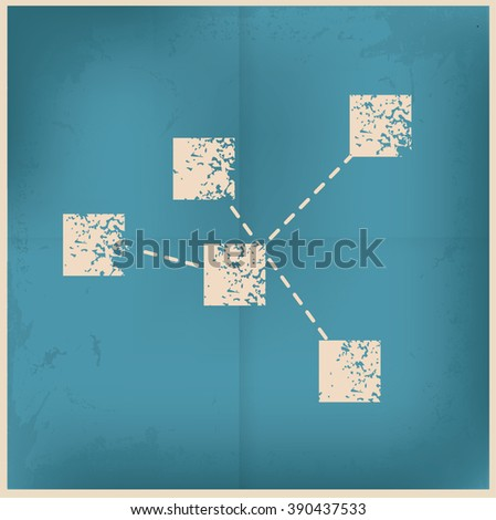 Analysis design on old paper background,vector - stock vector