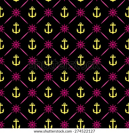 Anchor vector seamless pattern background wallpaper for your design of cards invitations book web design wallpapers for walls - stock vector