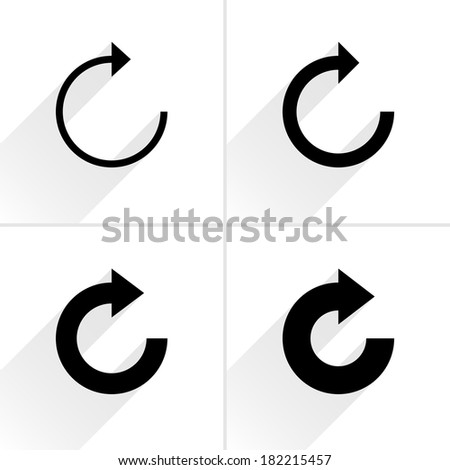 4 arrow icon. Set 05.  - stock vector