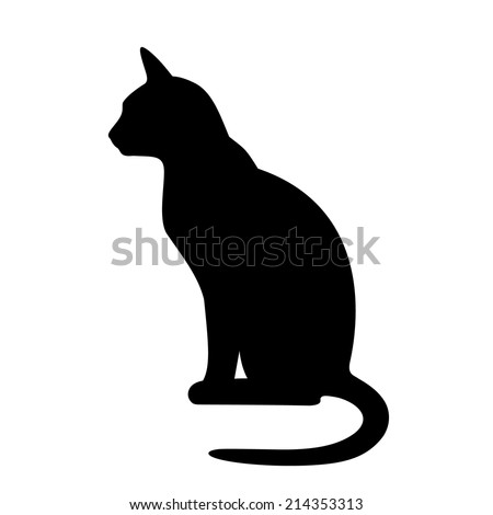 ?at silhouette - stock vector