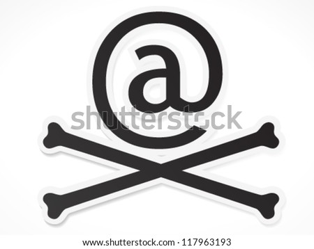 """At Skull"" - Piracy, Security, Cyber crime, Virus, Hack concept - stock vector"