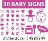 30 baby signs. vector - stock vector