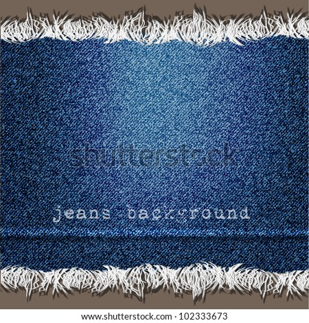 Background of Denim texture. Vector eps10 - stock vector