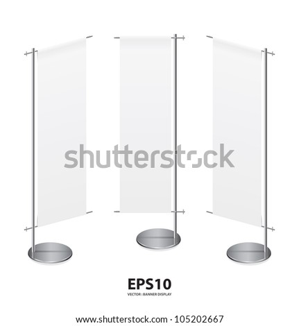 banner display  aluminum frame for design work,isolate on white background vector - stock vector
