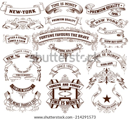 22 Banners set. Vector - stock vector
