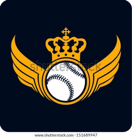 Baseball Champion Labels  - stock vector