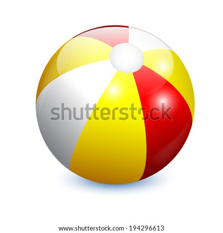 Beach Ball isolated on white background  - stock vector