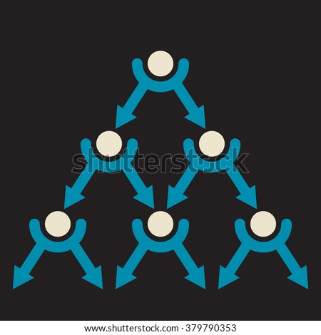binary tree exponential viral distribution  - stock vector
