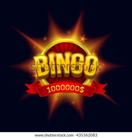 """Bingo"" banner illustration. Esp10 vector. - stock vector"