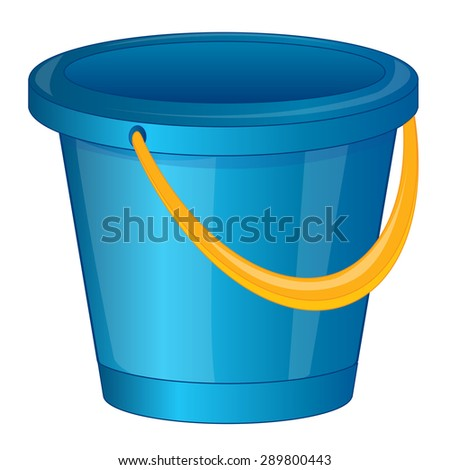 blue pail.Vector illustration - stock vector