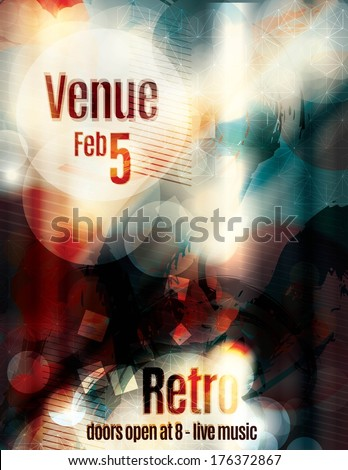 blurred abstract flyer template - stock vector