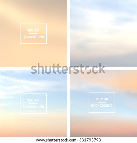 Blurred vector backgrounds - stock vector