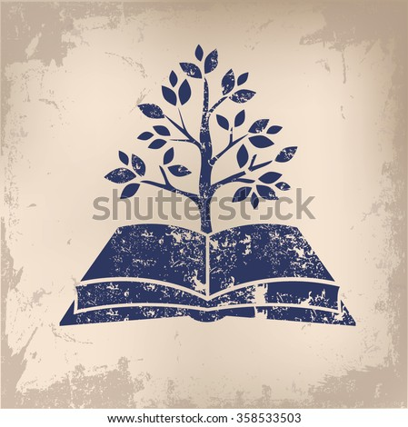 Book,growth design on old paper background,vector - stock vector
