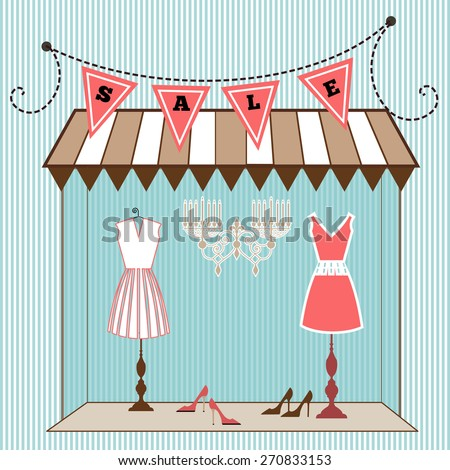 Boutique storefront  - stock vector