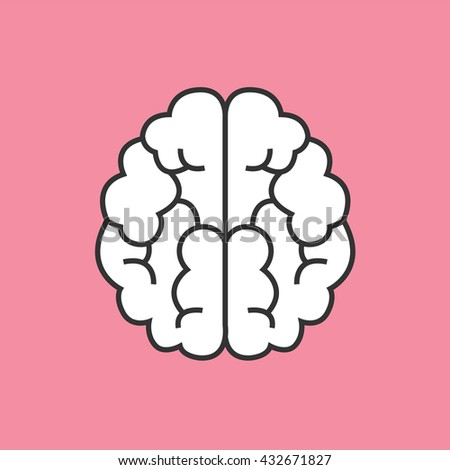 Brain icon vector - stock vector