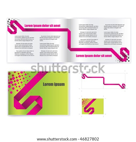 brochure ( booklet ) cover template vector - stock vector