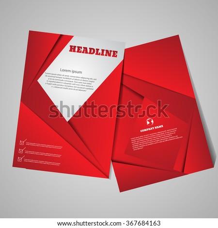 Brochure Flyer design. Stylized brochure design eps 10 - stock vector